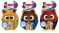 Ethical Dog-Spot Hoots Owl Plush Squeaker Dog Toy- Assorted