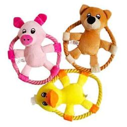 Dog Toy Chew Ring, Animal Pattern Flying Discs  Pig, Duck, B