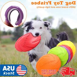 Dog Toy Flyer Flexible Durable Frisbee Disc LARGE Chew Fetch