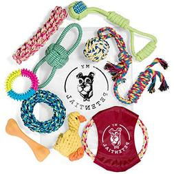My Petential Dog Toy Gift Set  - Fun Rope, Rubber and Squeak