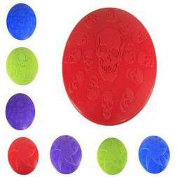 Dog Toy Pet New Colorful Soft Rubber Frisbee Fetch Throwing