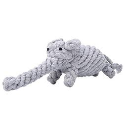 PEHOST Dog Chew Toys Teeth Cleaning Ropes PH001 Grey Elephan