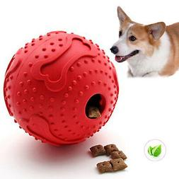 Dog Treat Ball Interactive Toy Pet Rubber Chew Toy Puppy Foo