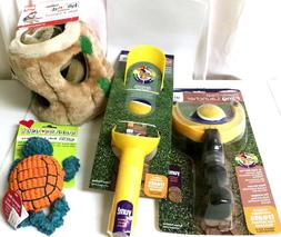DOGGIE TOY BOX 2 Ball Launchers, Squeeky Turtle Toy and Hide