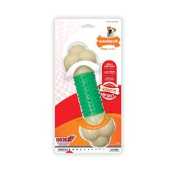 Nylabone Double Action Power Chew Durable Dog Toy, Bacon, 1
