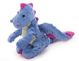 goDog Dragons Periwinkle Dog Toy with Chew Guard Technology,