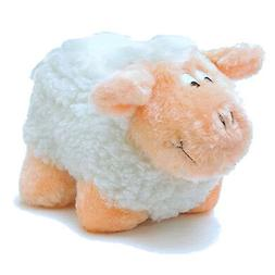 Farm Fleece Sheep SMALL Dog Squeaker Plush Squeaky Dog Puppy