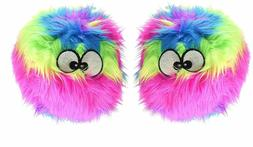 GoDog Furballz Chew Guard Dog Toy, Rainbow