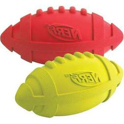 "Nerf Dog G8942 Nerf Squeaker Football 7"" 2/Pkg-Red & Green"
