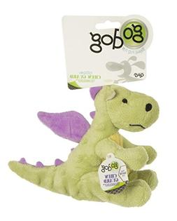 GoDog Lime Dragon Dog Toy with Chew Guard