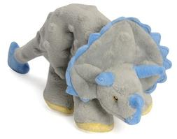 Gray - goDog Dinos Frills with Chew Guard Small