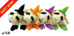 """Multipet  Halloween Lamb Chop Witch Dog Toy 10.5"""""""
