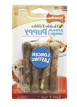 Nylabone Healthy Edibles Puppy Chew Treats, Lamb & Apple, Pe