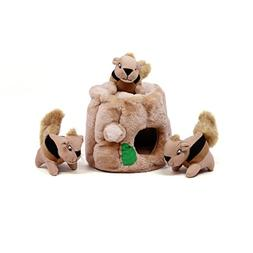 Outward Hound Hide-A-Squirrel Dog Toy Plush Dog Squeaky Toy