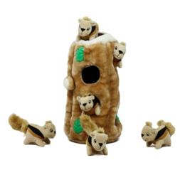 Outward Hound Hide-A-Squirrel and Puzzle Plush Squeaking Toy