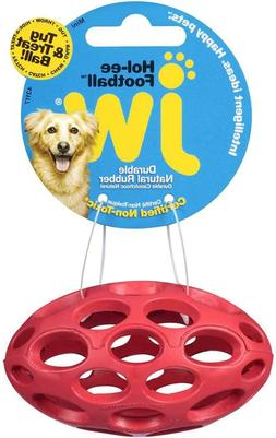 JW Pet Hol-EE Football Dog Toy, Durable Natural Rubber Tug a