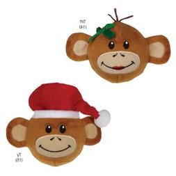 Zanies Holiday Monkey Business Squeaker Ball Pet Toy