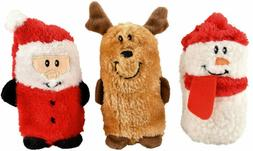 ZippyPaws Holiday 3-Pack Squeakie Buddies - Squeaky No Stuff