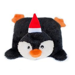 ZippyPaws Holiday Squeakie Pad Penguin Squeaky No Stuffing P