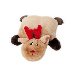 ZippyPaws Holiday Squeakie Pad Reindeer Squeaky No Stuffing