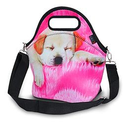 iColor Insulated Neoprene Large Lunch Bag - Removable Should