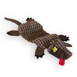 Outward Hound Invincibles Roadkillz Armadillo Dog Squeaky To