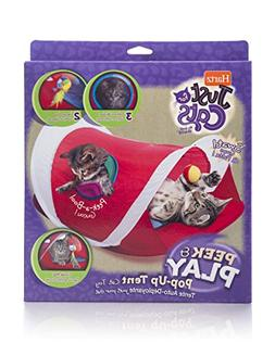 Hartz Just for Cats Peek & Play Pop-Up Cat Tent Toy