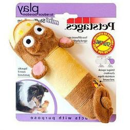Just For Fun No Stuffing Plush Lil Squeak Monkey Dog Toy For