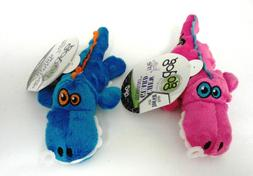 GoDog Just for Me Chew Guard Gators Dog Toy, Blue or Pink