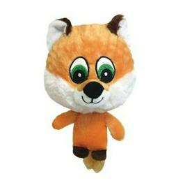 knobby noggins fox squeaky plush dog toy