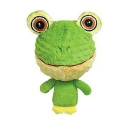Multipet Knobby Noggins Frog Squeaky Plush Dog Toy Bumpy Hea