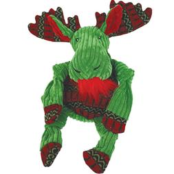 Hugglehounds Knotty GREEN MOOSE Squeaker Holiday Dog Toy Sm,
