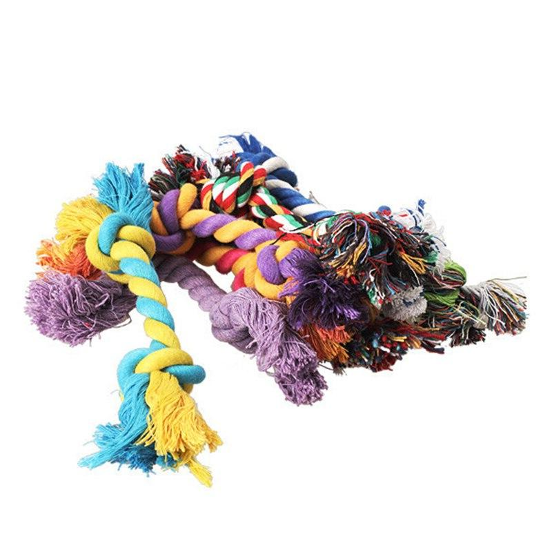 1 pcs Pets pet supplies Puppy Cotton Chew <font><b>Toy</b></font> Durable Braided Rope 15CM Funny Tool