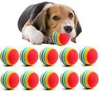 10PC/Lot Mini Small Dog Toys For Pets Dogs Chew Ball Puppy D