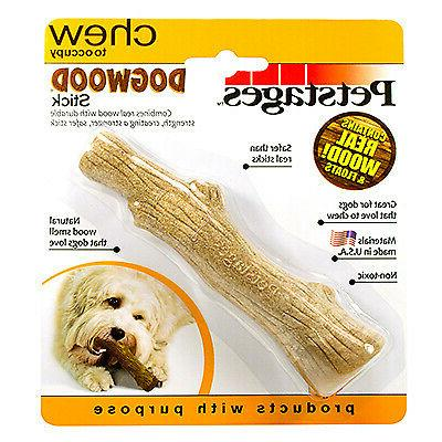 """PETSTAGES 217  Brown DOGWOOD STICK DOG TOY SMALL BROWN 5"""" X"""
