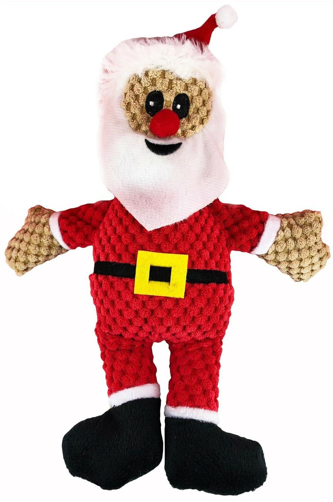 3-Pack Holiday Squeaker Plush Play Squeaky