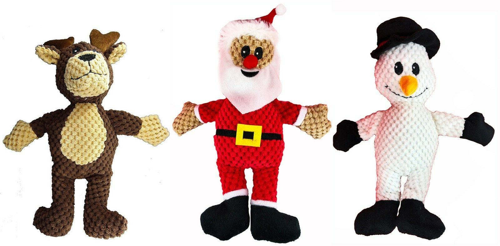 3-Pack Squeaker Plush Play Squeaky