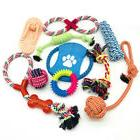 4-10 Pack Pet Dog Toys Frisbee Ball Assorted Chew Rope Train