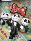 4 DOG Toy Lot DISNEY THE NIGHTMARE BEFORE CHRISTMAS Pull Che