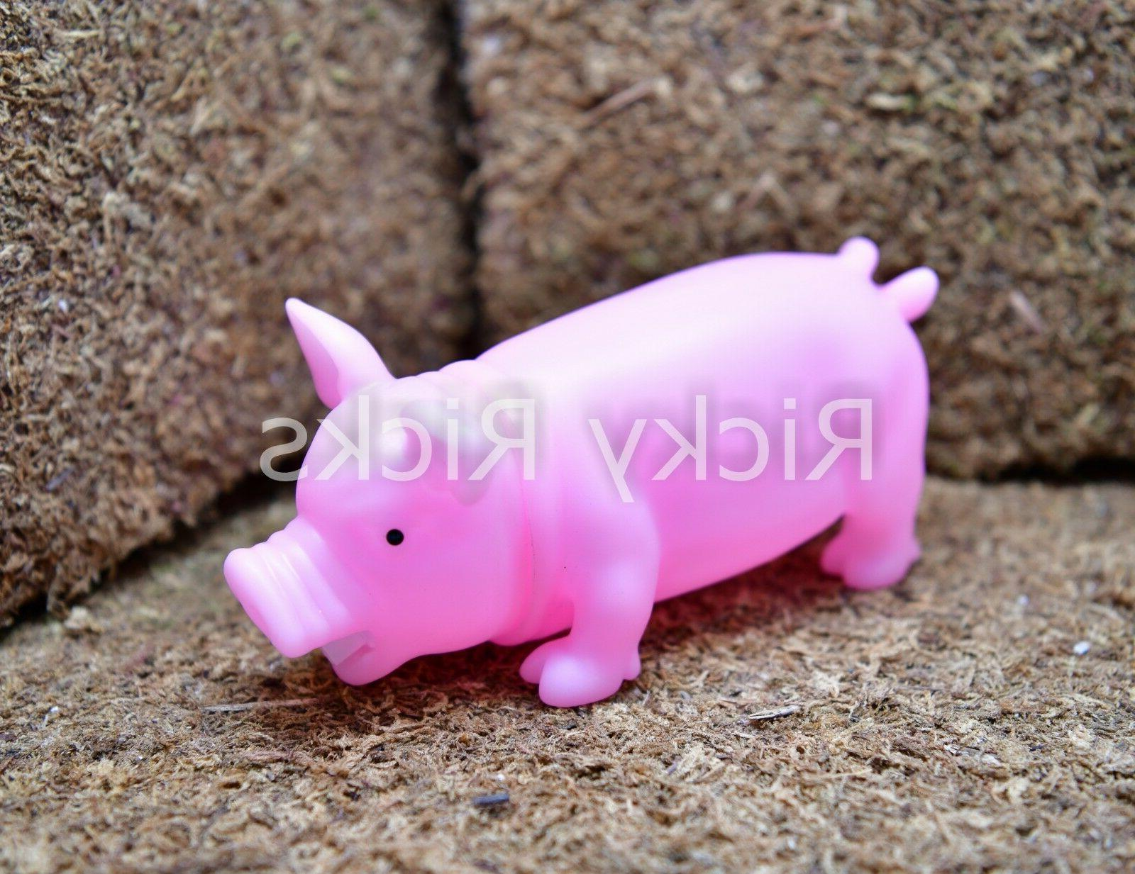 "8.5"" Pig Toy Grunting Squeaky Rubber Chew Squeaker Funny Dog"