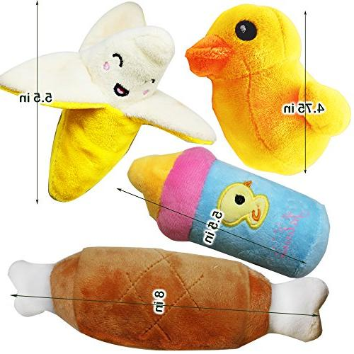 Jalousie Squeaky Toys for Medium Dog Pets