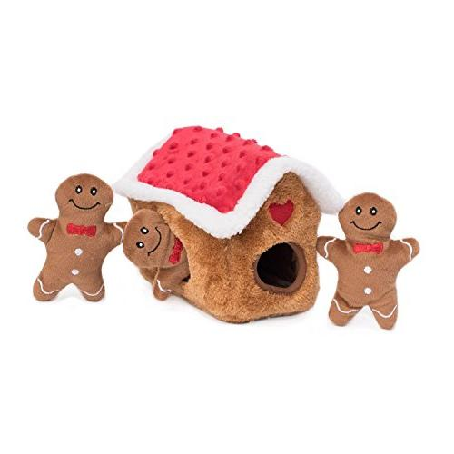 ZippyPaws Holiday Interactive Seek - Gingerbread House