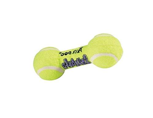 air squeaker dumbell dog toy
