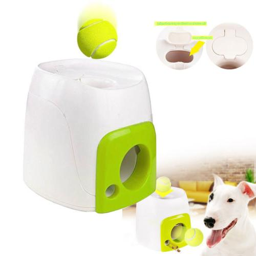 Automatic Tennis Ball Toy Interactive Fetch Chucker Thrower ABS