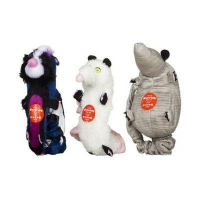 Hartz Backyard Pests Plush Squeaky Pet Dog Toy Squeaker Bung