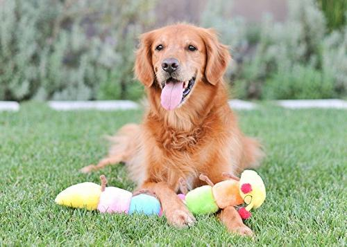 ZippyPaws Caterpillar w/ 6 Squeakers Toy