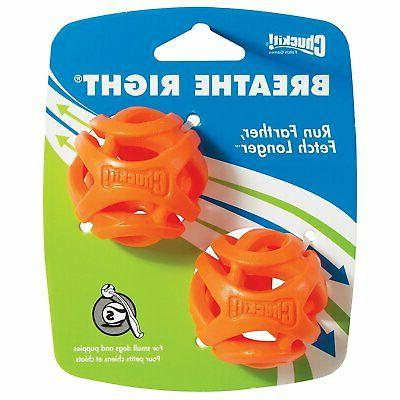 CHUCKIT - Breathe Right Fetch Ball Small - 2 Balls