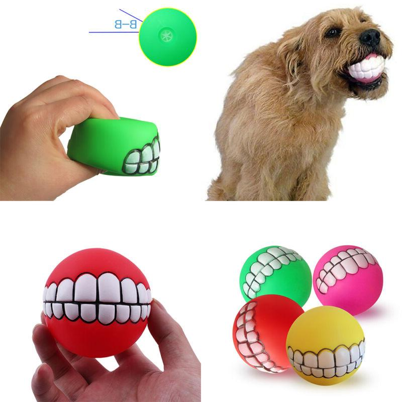 Colorful Pet Dog Puppy Dental Teeth Gums Chew Toys Tools