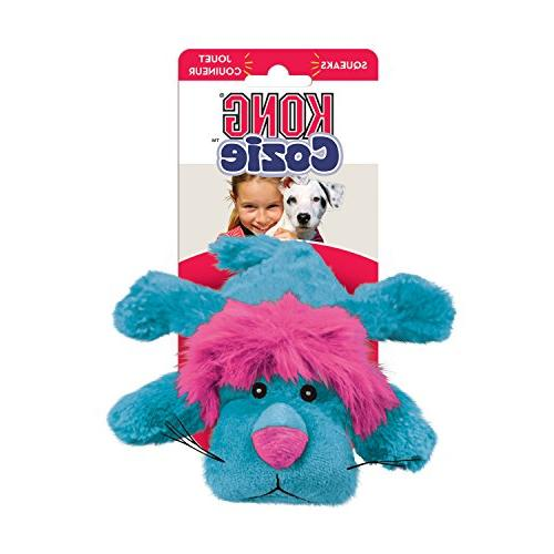 KONG Cozie Purple Haired Lion, Dog Blue
