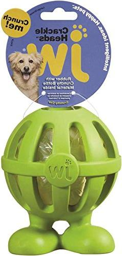 JW Pet Company Crackle Heads Crackle Cuz Dog Toy, Large, Col